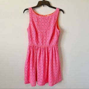 Lilly Pulitzer Alessa Pink Lace Sleeveless Dress